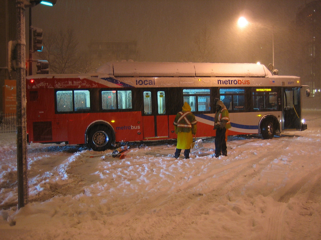 Metrobus service has been temporarily suspended systemwide due to current treacherous icy and slippery road conditions in the Washington, D.C. area.