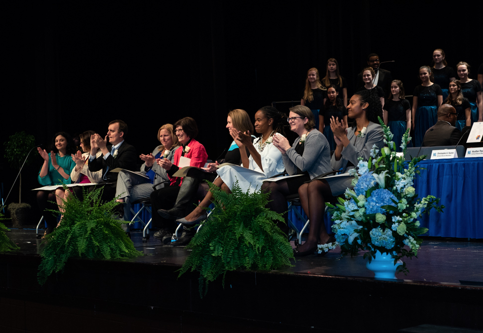 Five new Alexandria, Virginia School Board members were officially inducted at a public ceremony at T.C. Williams High School on Monday.