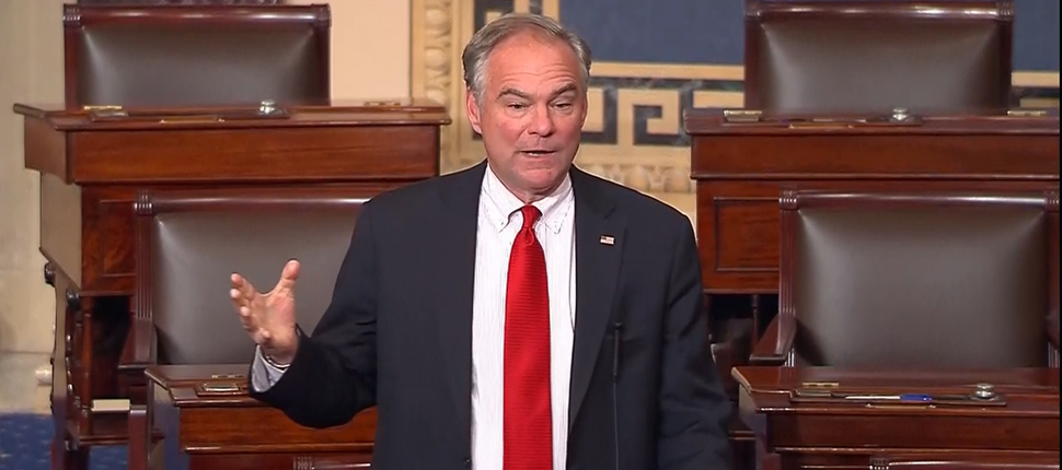 Today, U.S. Senator Tim Kaine (D-VA) released the following statement announcing he objects to the Senate leaving town while hundreds of thousands of federal employees – many of them Virginians – are going without pay.