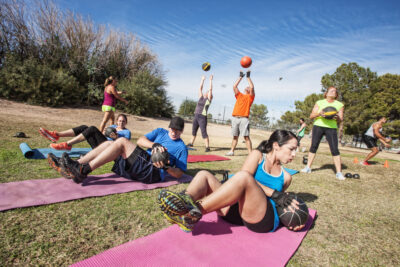 Ongoing fitness classes this spring and summer in the Carlyle neighborhood of Alexandria, Virginia sponsored by the Carlyle Vitality Initiative.